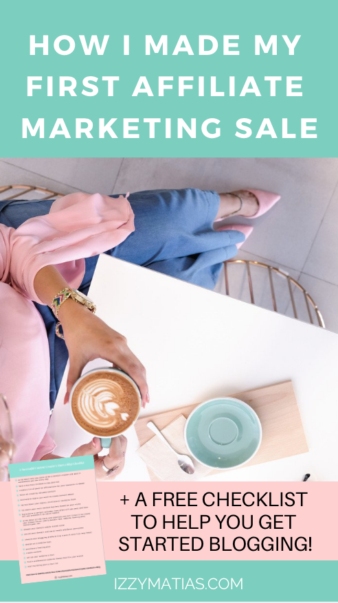Make money online through affiliate marketing. I share with you how I made my first affiliate sale and the different ways you can do affiliate marketing if you're a beginner. #affiliatemarketing #affiliatesale #affiliatemarketingforbeginners