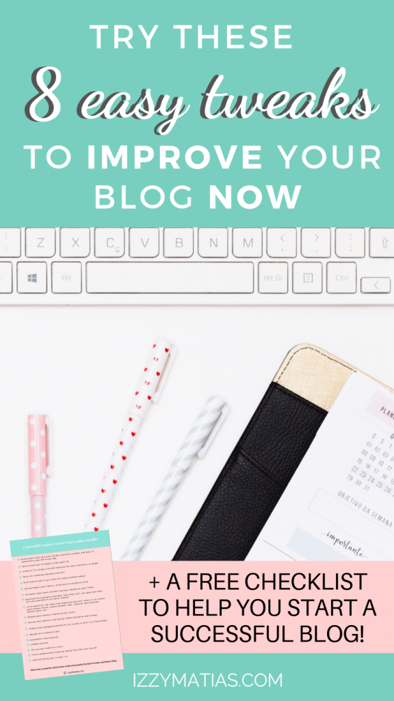 Find out how you can level up your blogging game with these 8 easy blogging tips for new bloggers to improve your blog now. #bloggingtipsfornewbloggers