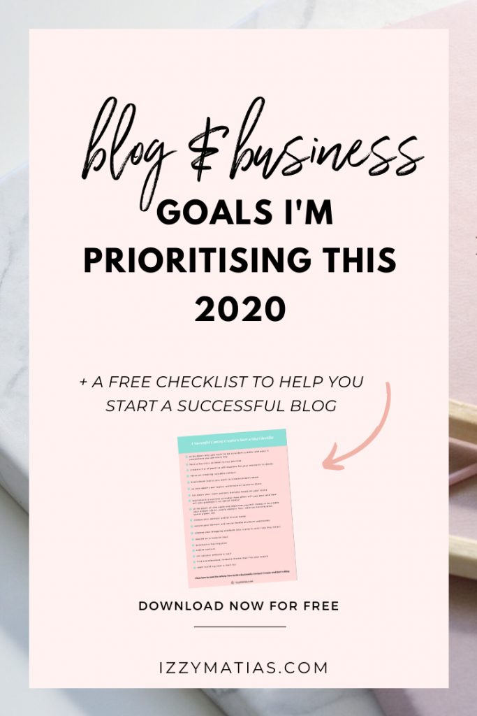 These are the blog and business goals I am prioritising this year as an official full-time blogger and creative entrepreneur. My 2020 Blog & Business Goals | What I Am Prioritising This Year #businessgoals